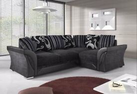 NEW R/H SHANNON CORNER SOFA INC CHROME FEET & FOAM SEATS FOR £359.99 INC FREE DELIVERY