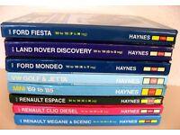 VARIOUS HAYNES MANUALS -ROVER, MINI, FIESTA, ESCORT, GOLF, MEGANE, CLIO, ESPACE, MONDEO. £8 EACH ONO