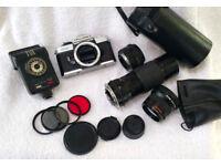 Fujica STX-1 35mm camera bundle