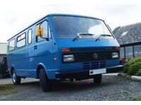 VW LT31 tin top camper van with pop top. very low mileage. Outstanding condition for age.