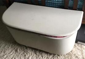 Shabby chic ottoman storage blanket box