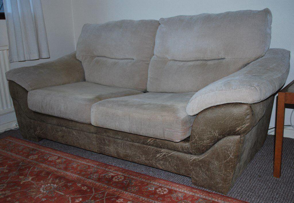 Debenhams Cream Amp Brown 3 Seater Sofa Double Bed Very