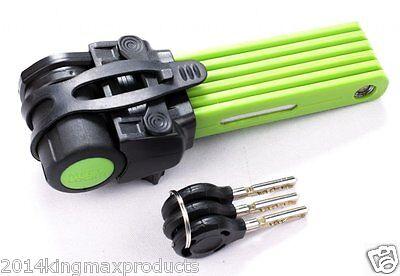 MEETLOCKS Bike Folding Lock Ultra Strong Security Size 69 cm W/3 Keys Easy Fix