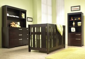 Solid Wood AP Industries Dresser and Crib w Conversion Kit
