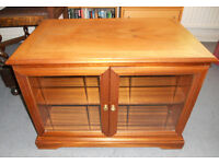 Teak TV Stand - Cabinet with Glass Doors