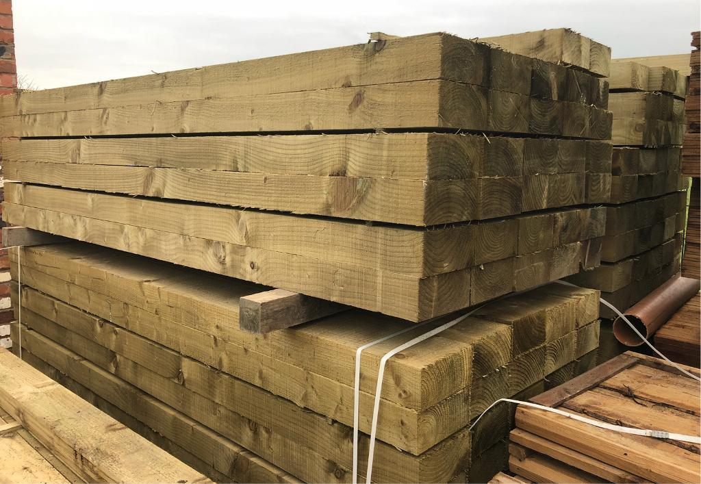 🌞Tanalised 190 X 90 X 2.4M Wooden Railway Sleepers