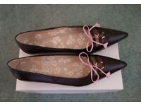 New Laura Ashley Brown Flat Shoes