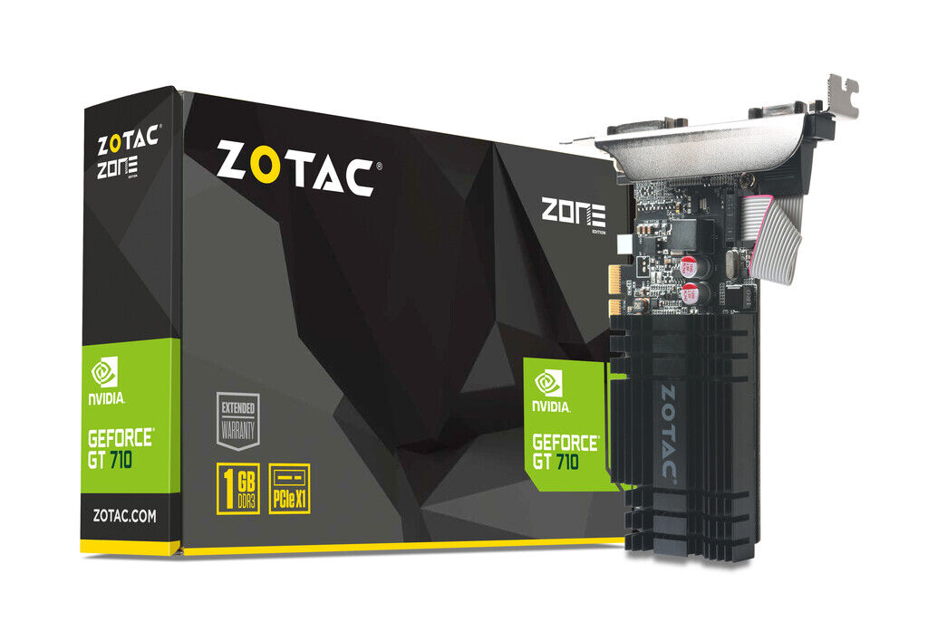 ZOTAC GeForce® GT 710 1GB PCIE x 1 Graphics Card