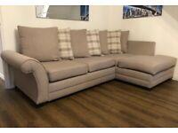 Cream DFS Corner L Shape Sofa