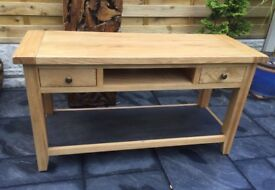 Solid Oak TV Unit, New / Unused