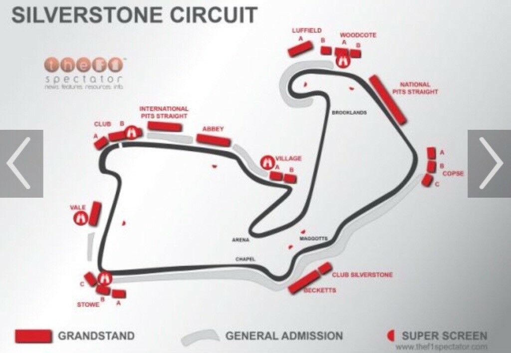 2 Adult formula 1 Grand Prix tickets for Silverstone. All weekend ...