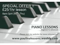 Piano lessons, SPECIAL OFFER for daytime class, N8