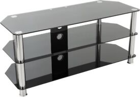 Black Glass Tv Stand for sale, great condition!!
