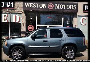2007 GMC Yukon DENALI *CHROME PKG *LEATHER *DEALER MAINTAINED