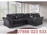 liberty fabric leather corner sofa brand new left or right black grey / brown also cuddle chair