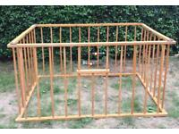 Wooden play pen SOLD