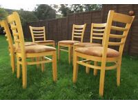6 dining chairs orthopedic solid wood ladder back kitchen chairs