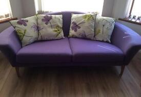 Modern two seated sofa settee