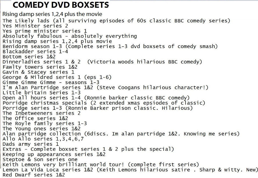 UK dvd boxsets (comedy classics/dramas etc) see list | in Brighton ...
