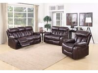 3+2+1 leather recliner