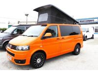 2013 Volkswagen Transporter Pop Top Conversion Campervan Camper 140ps Tdi In Orange
