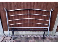 Silver Metal Headboard for Double Bed good condition