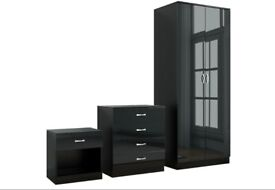LIMITED TIME OFFER Alina 2 Door Wardrobe With Alina Bed Room Set
