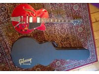 Ibanez Artcore AF75T Cherry Red + Gibson Hard Case