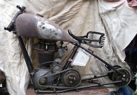 1933 G/33 OK Supreme 250cc with 1930 250cc J.A.P. engine, 3 speed Albion gearbox - PROJECT BARN FIND