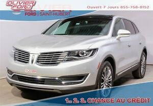 2016 Lincoln MKX Reserve AWD CUIR BAS KM A/C