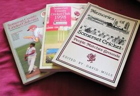 3 Books of Somerset Cricket-1994 & 1998 Year books - Memories of Somerset Cricket 1989