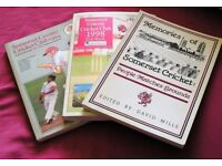 3 Books of Somerset Cricket-1994 & 1998 Year books - Memories of Somerset Cricket 1989