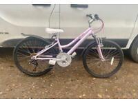 """Girls Claud Butler mountain bike 24"""" wheels £50"""