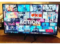 "55"" BUSH 4K ULTRA HD HDR SMART TV CAN DELIVER."