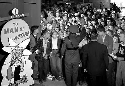 - Photo. 1947-8. Oak Ridge, Tennessee.  TO MAN and the ATOM Display
