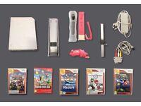 White Nintendo Wii Bundle - Model RVL-001 (Euro)