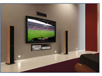 TV wall mounting / Installation / TV bracket fitting Shelving Cable management & Handymen Services