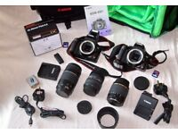 2 x Canon 450D (rebel) Camera Bodies and Various Lenses