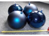 4 x Giant Blue Christmas Baubles - 30cm Diameter - £45 - Glenrothes