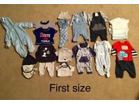 Baby boys first size bundle
