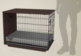 Gorgeous wood-top dog crate for medium sized dog (Fido Studio)