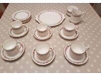 Royal Albert Paragon Belinda Tea Set for Six. Cups, Saucers, Milk Jug, Sugar Bowl, Sandwich, Sides