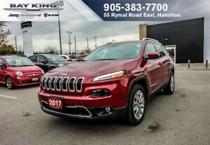 2017 Jeep Cherokee LIMITED FWD, REMOTE START, GPS NAVI, BLUETOOT