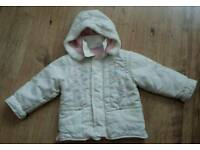 Girls winter coat age 4-5 years