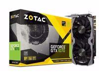 NVidia GTX 1070 Zotac Mini Graphics Video card with receipt GPU gaming mining AMD Vega Ti 1080