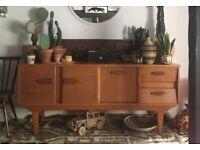 Mid-Century Modern Teak Wood Vintage Sideboard Credenza