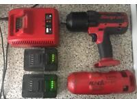 """1/2"""" 18v Snap-on Drive MonsterLithium Impact Wrench Nut Gun Two Batteries SNAPON"""