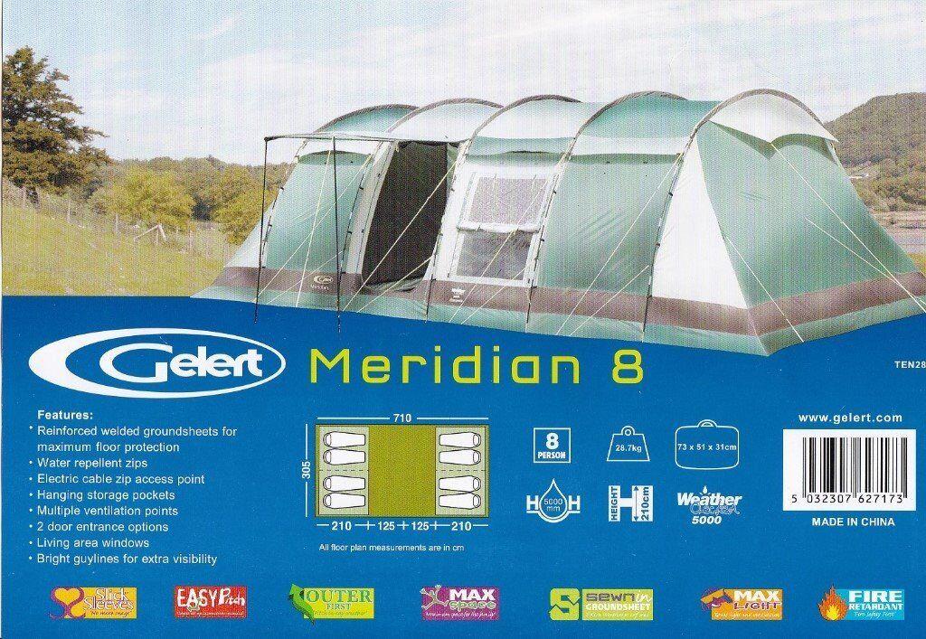 For Sale Gelert Meridian 8 Tent  sc 1 st  Gumtree & For Sale Gelert Meridian 8 Tent | in Stanley County Durham | Gumtree