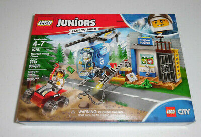 LEGO City Juniors Mountain Police Chase 10751 115 Piece Building Set Toy Kit - Police Building Set