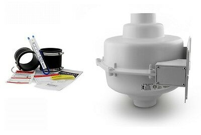 Radonaway Gp501 Radon Fan 3 Black Couplings U-tube Vacuum Gauge Labels